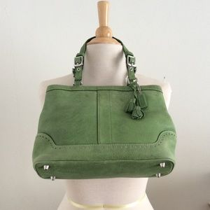 Coach Nubuck Leather satchel vintage